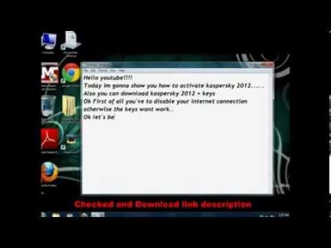 Kaspersky 2013 Activation code 365 days keys
