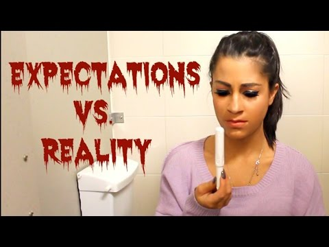 Being on Your Period EXPECTATIONS vs REALITY w/ Alessandra DeMartino