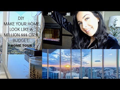 MY HOME TOUR | + DIY DECOR IDEAS FOR LUXURY ON A BUDGET (Small Apartment Decorating Ideas) Holiday