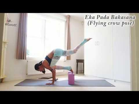 Eka Pada Bakasana I (Flying crow pose) - Arm balance