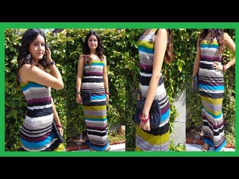 How to make Long Maxi Dress DIY Damav425