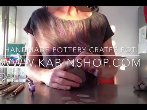 How to make a ceramic pottery cactus planter