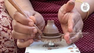 DIY Mini Clay Pots On Tiny Pottery Wheel   Satisfying Pottery Videos   AmmaduLetsCookVantalu  