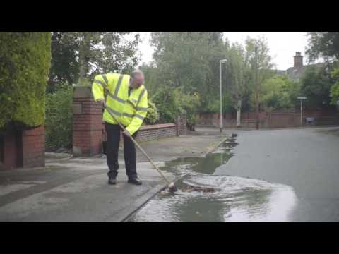 How to clear a blocked road drain