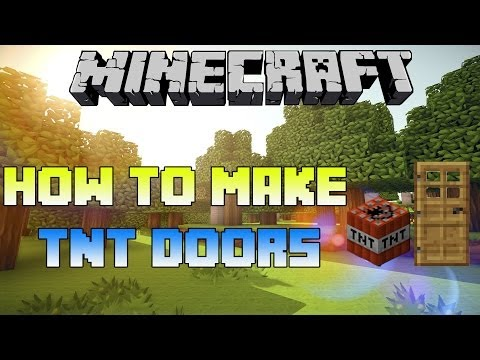 Minecraft PS3 - How To Make TNT Doors (Exploding Doors in Minecraft PS4 and Xbox One)