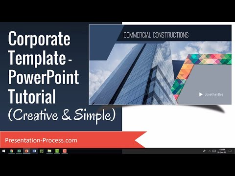 Corporate Template PowerPoint Tutorial (Creative & Simple)