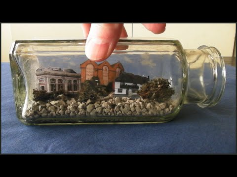 Easiest Diorama Making Tutorial - Hythe (Kent) Town In A Bottle