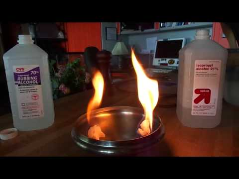 Burn Test - 91% Isopropyl alcohol vs. 70% Isopropyl alcohol as Fire Dance Fuel