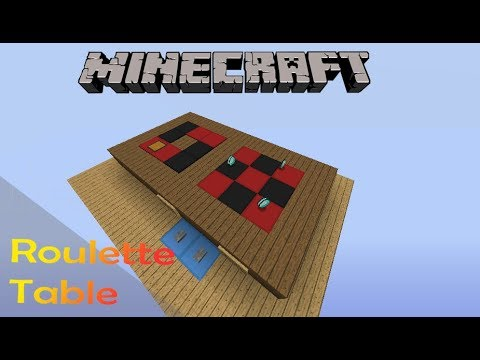 Minecraft : How to make a working CASINO ROULETTE TABLE [Redstone].