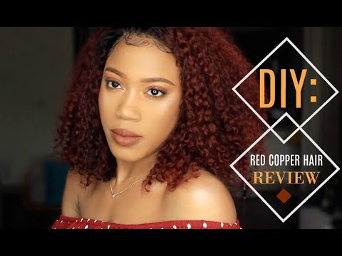 RED COPPER CURLY HAIR   LAVY HAIR REVIEW