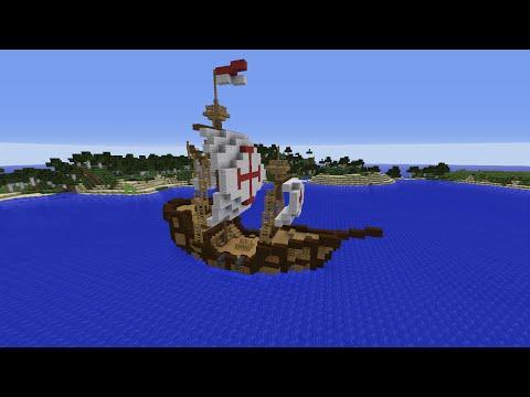 Minecraft Tutorial - Small Ship