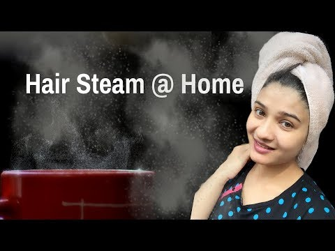 DIY Hair steam at home in Hindi | Steaming hair with towel | Steaming hair at home | AVNI