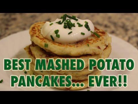 BEST EVER! MASHED POTATO PANCAKES- Never Eat Boring Leftover Potatoes Again!