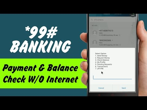 Mobile Banking without Internet | *99# Banking | Balance check & Payment Service