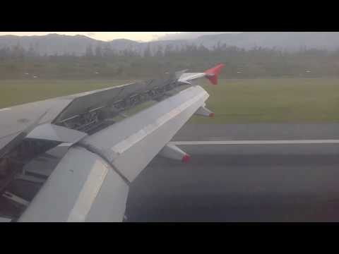 Flight from Galapagos to Quito (only takeoff, approach and landing)