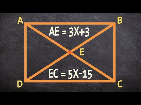 Find the missing value using the diagonals and properties of a rectangle