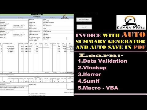 GST Invoice - Auto Summary and PDF Generator ☑️