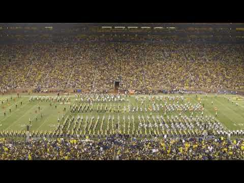 U-M and MSU Marching Bands Perform 1812 Overture