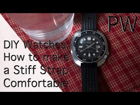 DIY Watches: How to Make a Stiff Rubber Strap Comfortable, in Two Easy Steps