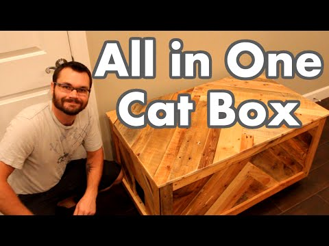 All in One Cat Box Out of Pallet Wood