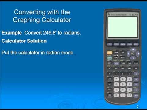 Converting between degree and radian using the TI-83/84