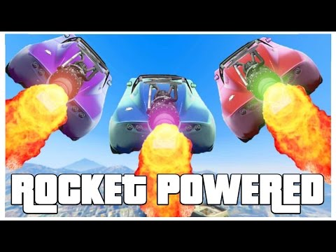 ROCKET POWERED RACES!! - GTA V FUNNY MOMENTS!! #3