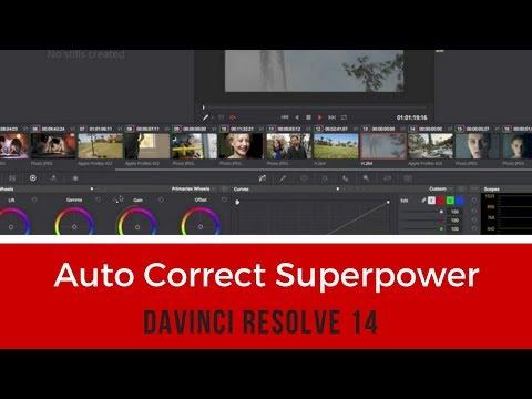Auto Correct Superpower -DaVinci Resolve 14