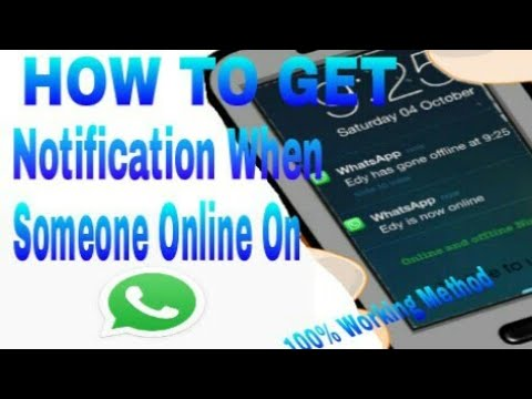 HOW To Get Notification When Someone Online On Whaatsaap||Easiest Method Ever || 100% Working Method