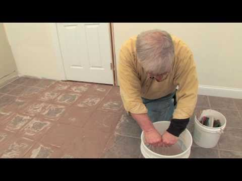 How to Floor Grout Video 3 of 4