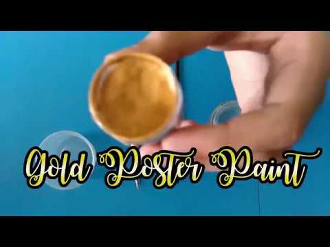 How to Make Gold Calligraphy Ink (with poster paint)