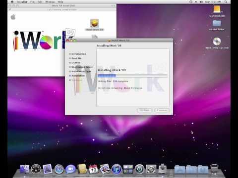 Installing iWork '09 in OS X Leopard