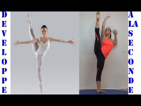 How To Developpe A La Seconde 2nd Ballet Dance Exercises EasyFlexibility