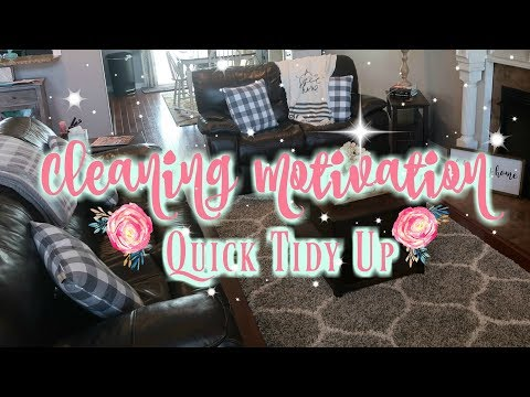 Quick Tidy Up Cleaning Motivation/Watch Me Clean Wednesday/Keep Calm and Clean