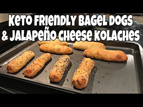 Keto Full Day of Eating | Low Carb Bagel Dogs & Jalapeño Cheese Kolaches | Keto Grocery Haul