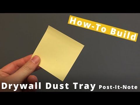 DIY Post IT Note Tray For Collecting Drill Dust