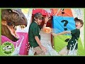 Dinosaur Box Fort Challenge Kids Play Mystery Game With Surprise Toy Dinosaurs amp Animals