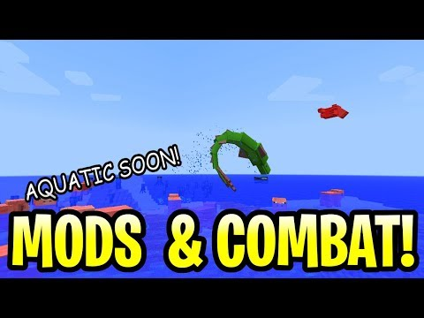 Minecraft Update Aquatic Releasing Soon! + Mods & Combat System! Pe, Xbox, Ps4 & Switch