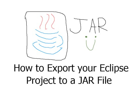Java - How to export your project to a JAR file using Eclipse