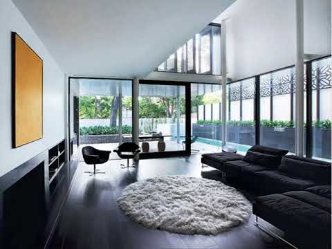 Dark Floor Living Room Decor