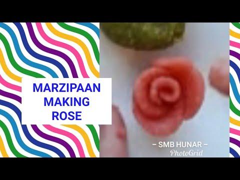 Marzipan-Making Rose Shape Using Dough