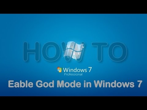 How to Enable God mode in window 10
