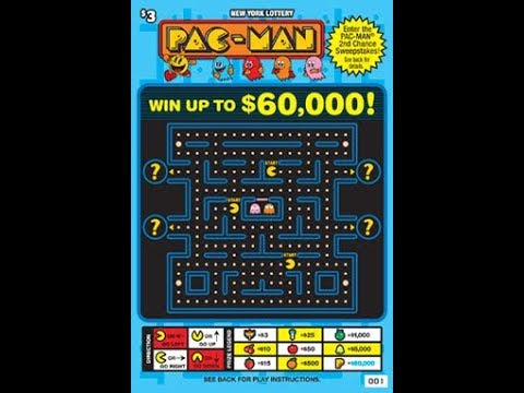 $3 - PACMAN! BRAND NEW -   Lottery Bengal Scratching Scratch Off instant ticket  NEW TICKET!