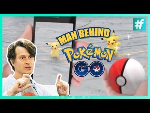 Man behind