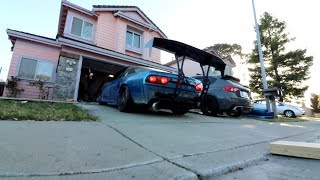 BOOSTED 240sx GETS A BIG WING!!