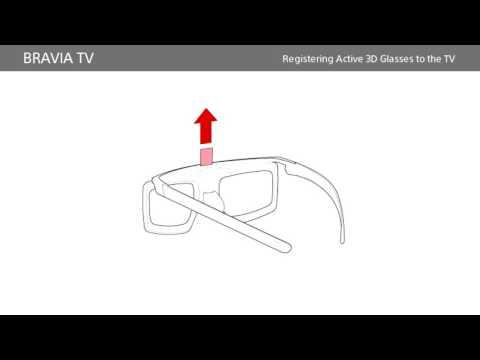 Sony BRAVIA - How to prepare/use 3D Glasses for BRAVIA TVs (2016/2015 models)