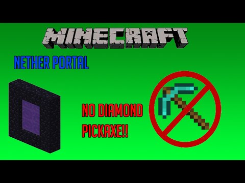Minecraft Playstation 3 Edition - How to Make a Nether Portal Without a Diamond Pickaxe ( Tutorial)