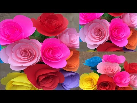 How to Make Paper Small Rose | Making Paper Flowers Step by Step | DIY-Paper Crafts