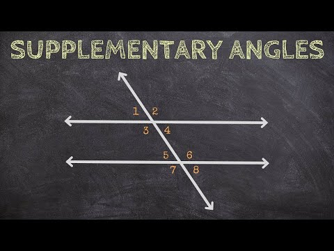 Determining Supplementary Angles from Parallel Lines and a Transversal