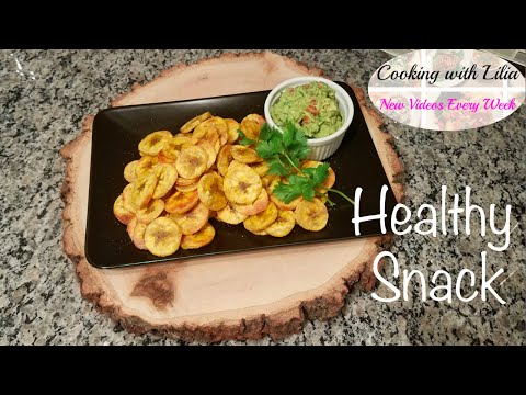 How to Make Plantain Chips - Healthy Snack - Fruit Chips - Super easy!!