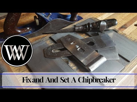 How to Fix Chipbreaker Clog on a Hand Plane Iron | Woodworking tip